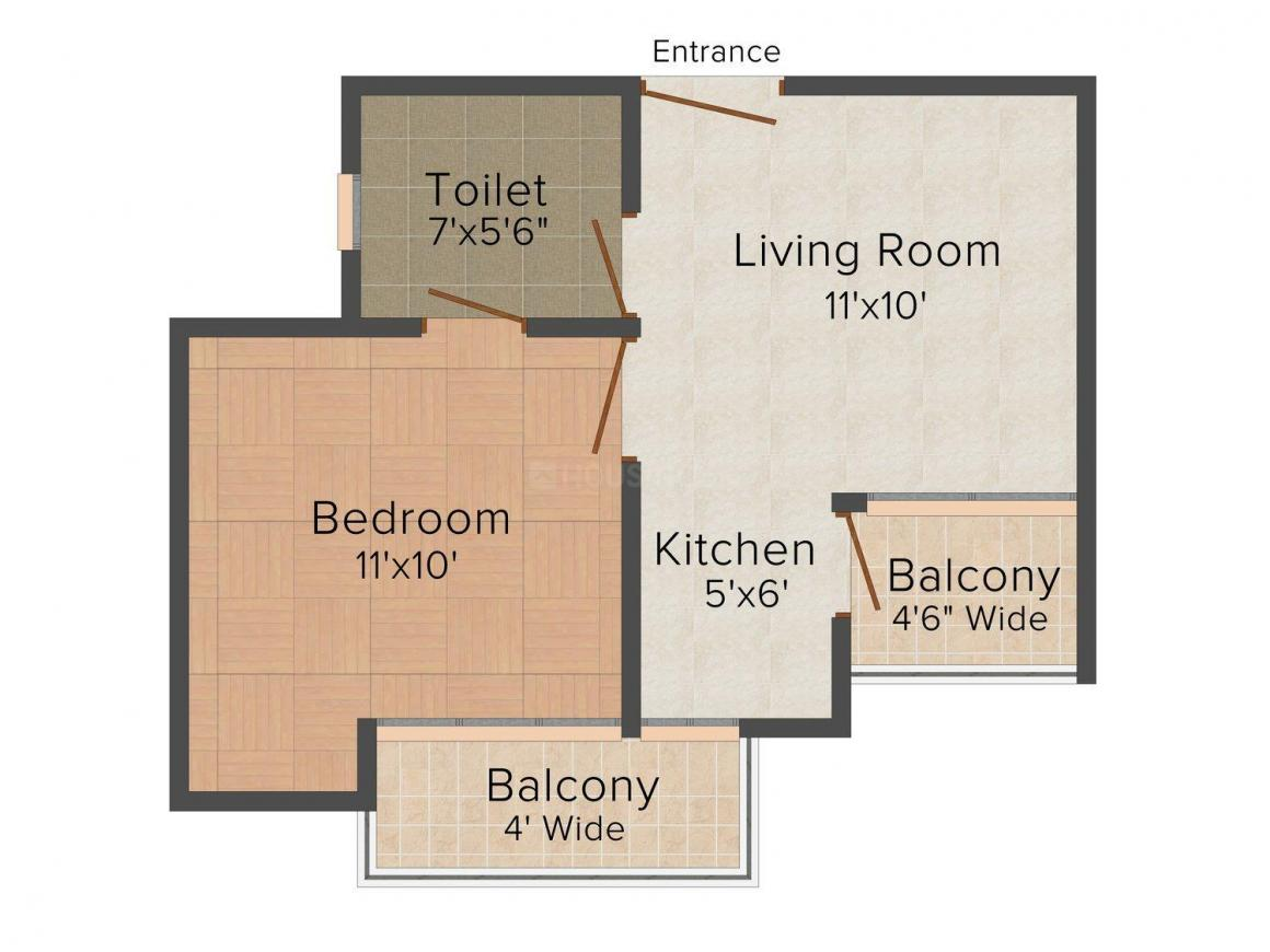 Floor Plan Image of 450 - 900 Sq.ft 1 BHK Independent Floor for buy in Shivam Madaan Floors