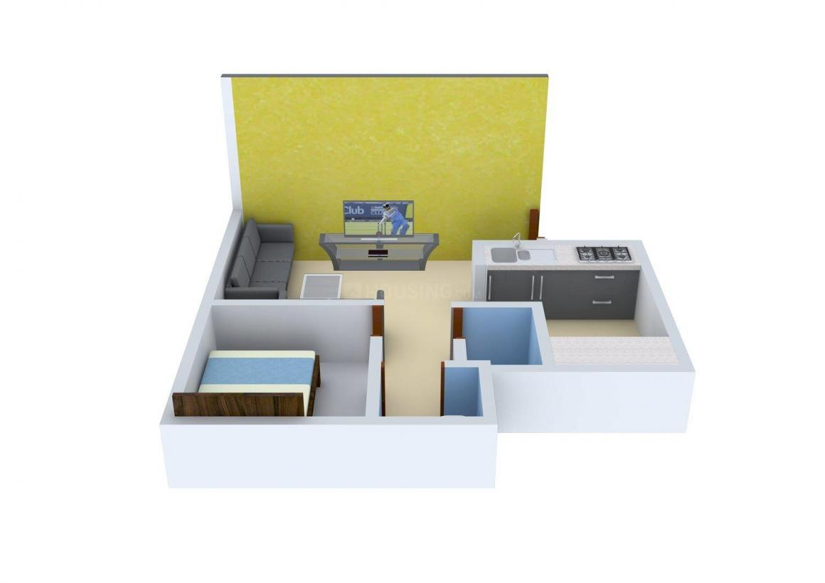 Floor Plan Image of 0 - 270 Sq.ft 1 BHK Apartment for buy in HDIL The Nest