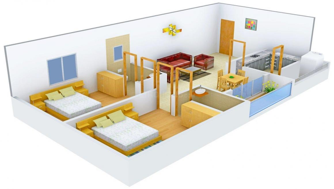 Floor Plan Image of 1200.0 - 1750.0 Sq.ft 2 BHK Apartment for buy in First Home
