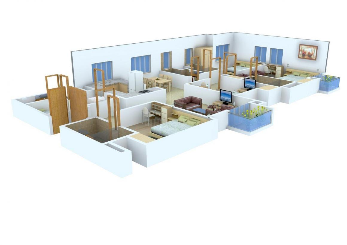 Floor Plan Image of 0 - 1800 Sq.ft 4 BHK Apartment for buy in Devotion Homes