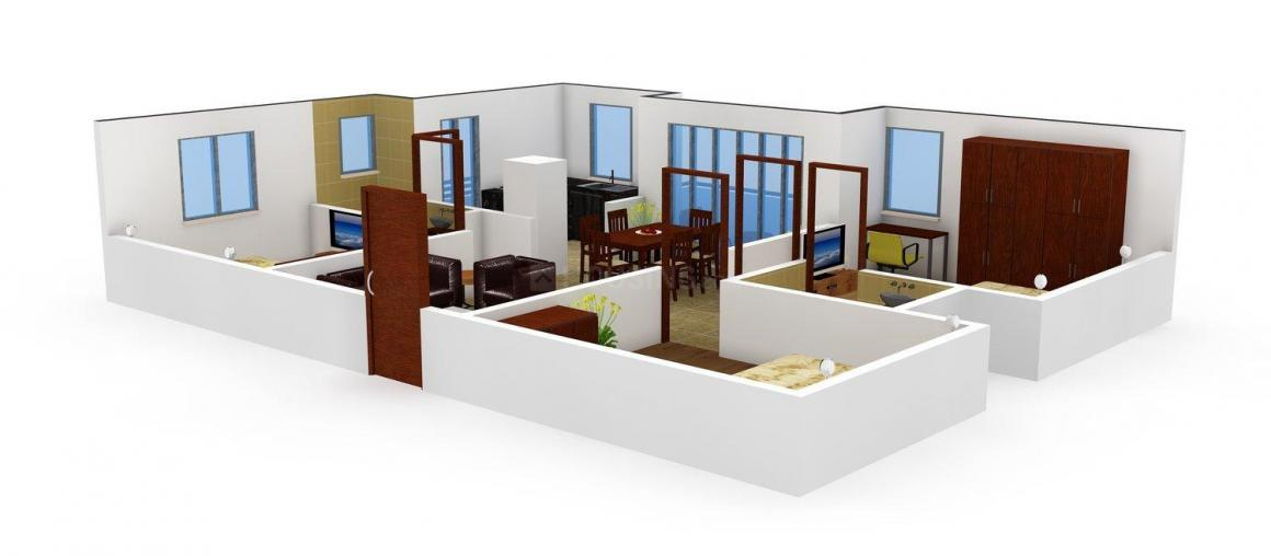 Floor Plan Image of 1460 - 1465 Sq.ft 3 BHK Apartment for buy in Maphar Hillock