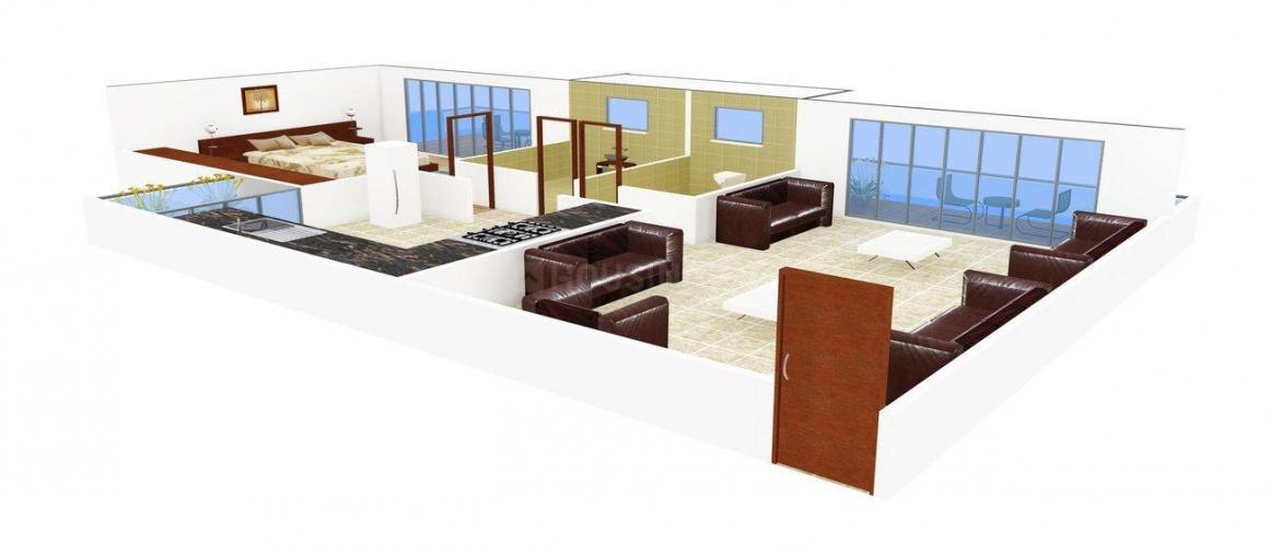 Floor Plan Image of 530 - 675 Sq.ft Studio Studio Apartment for buy in Space Solitaire Space