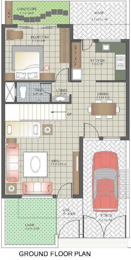 Sunil Chameli Villas Floor Plan: 3 BHK Unit with Built up area of 2000 sq.ft 1