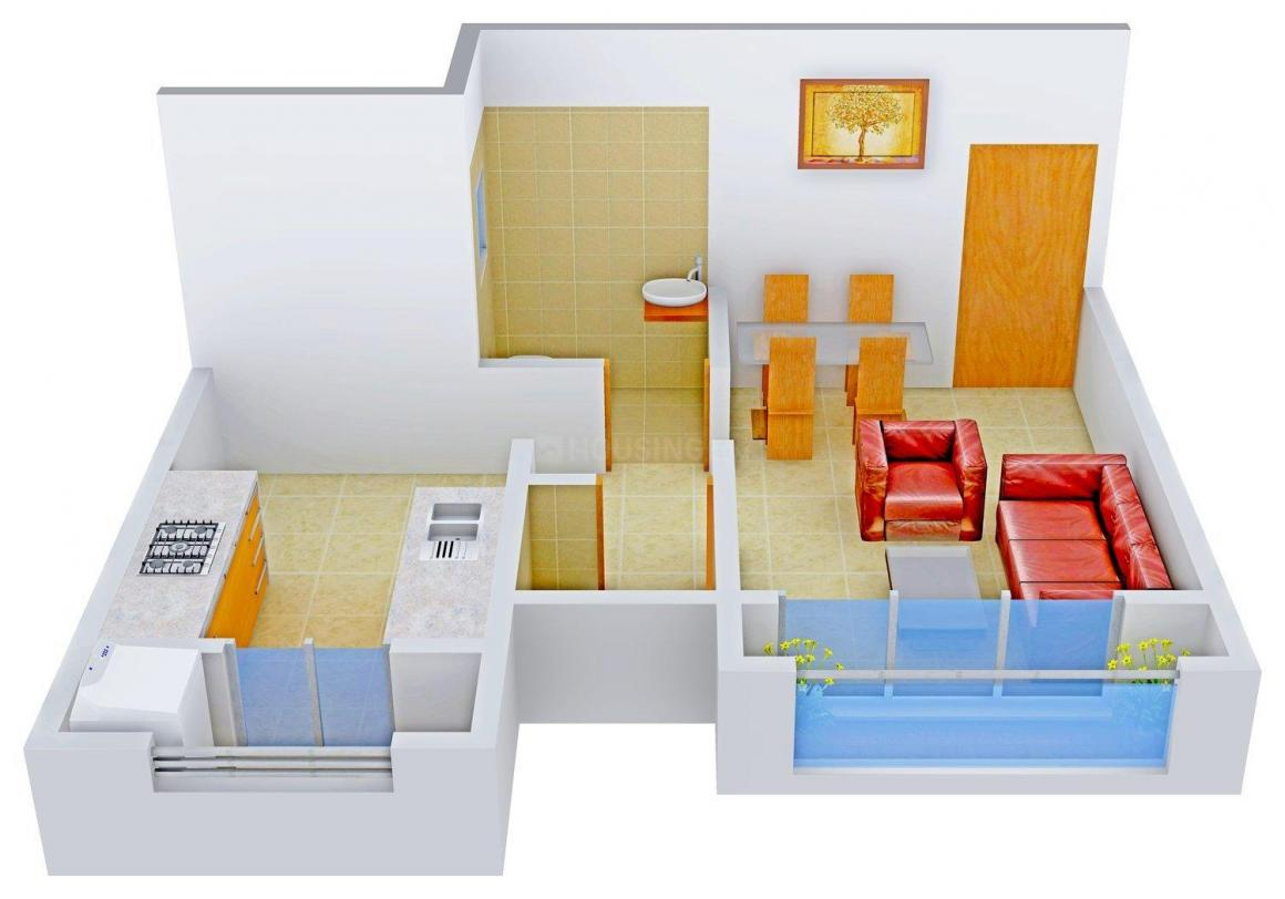 Floor Plan Image of 390 - 800 Sq.ft 1 RK Apartment for buy in Assets Om Shree Ashtavinayak Complex