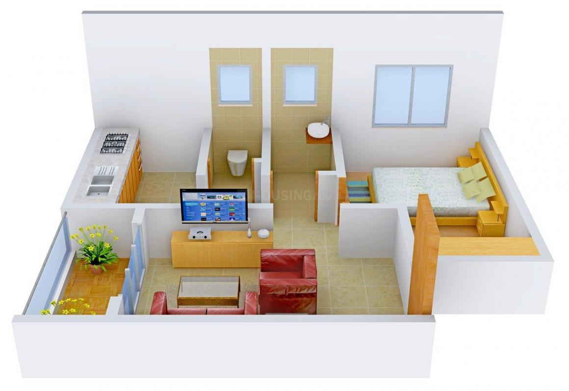 Floor Plan Image of 351.0 - 531.0 Sq.ft 1 RK Apartment for buy in Sai Prerana