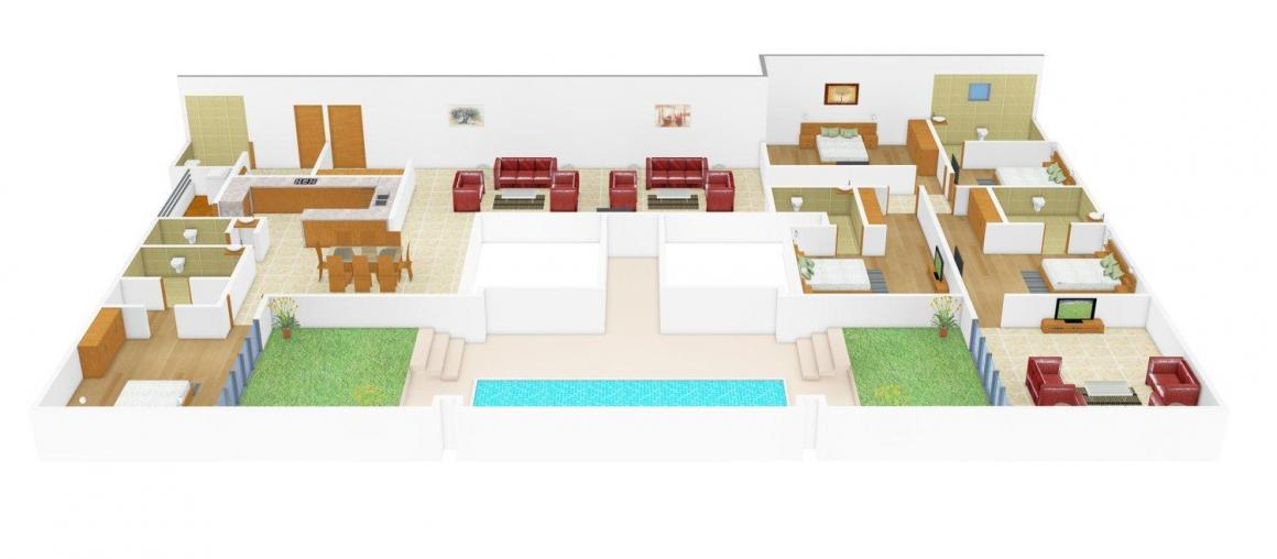 Floor Plan Image of 0 - 3823 Sq.ft 5 BHK Apartment for buy in True Value Taus