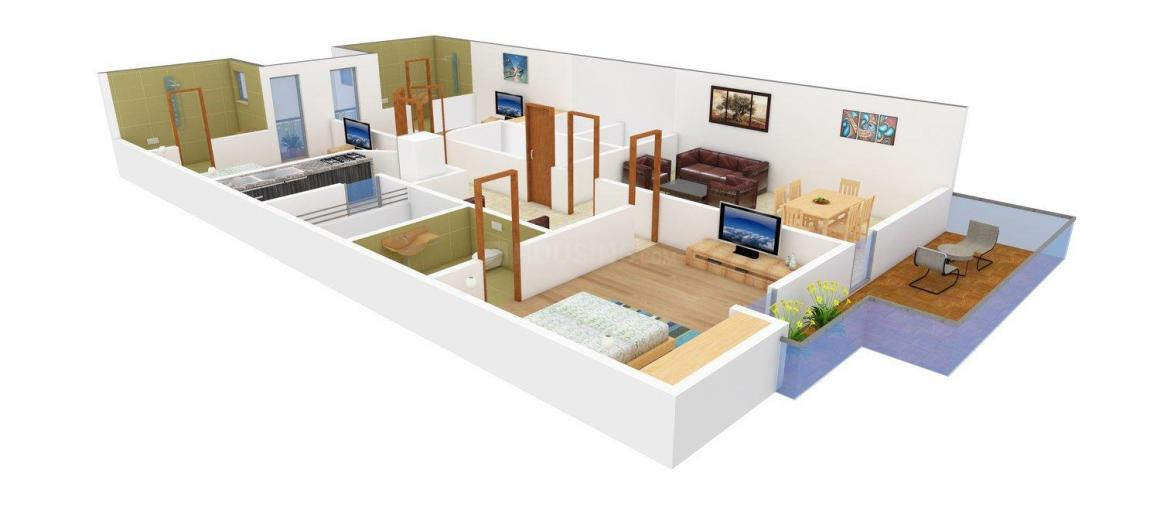 Floor Plan Image of 0 - 1800.0 Sq.ft 3 BHK Independent Floor for buy in Navgrow Home 2