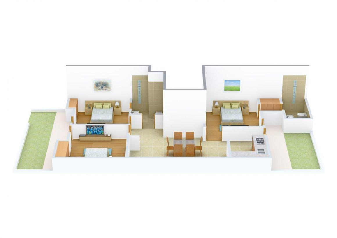 Floor Plan Image of 0 - 1300.0 Sq.ft 3 BHK Independent Floor for buy in Mansi Floors Sec 49 Faridabad