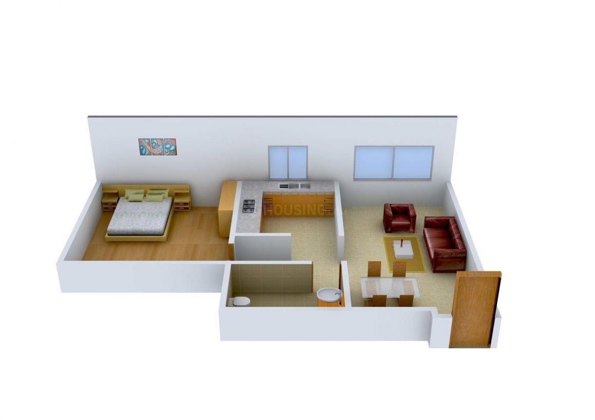 Floor Plan Image of 0 - 680 Sq.ft 1 BHK Apartment for buy in Patel Aman