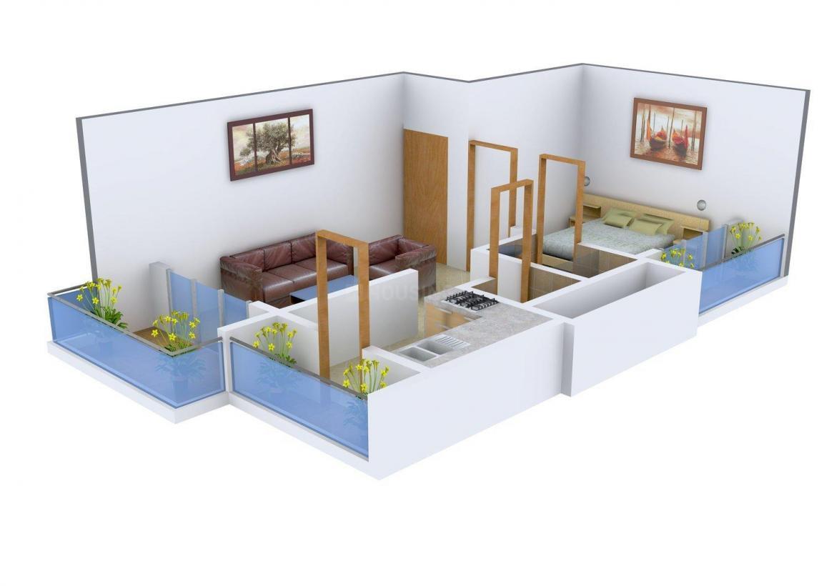 Floor Plan Image of 0 - 420.0 Sq.ft 1 BHK Apartment for buy in Soham Shakti