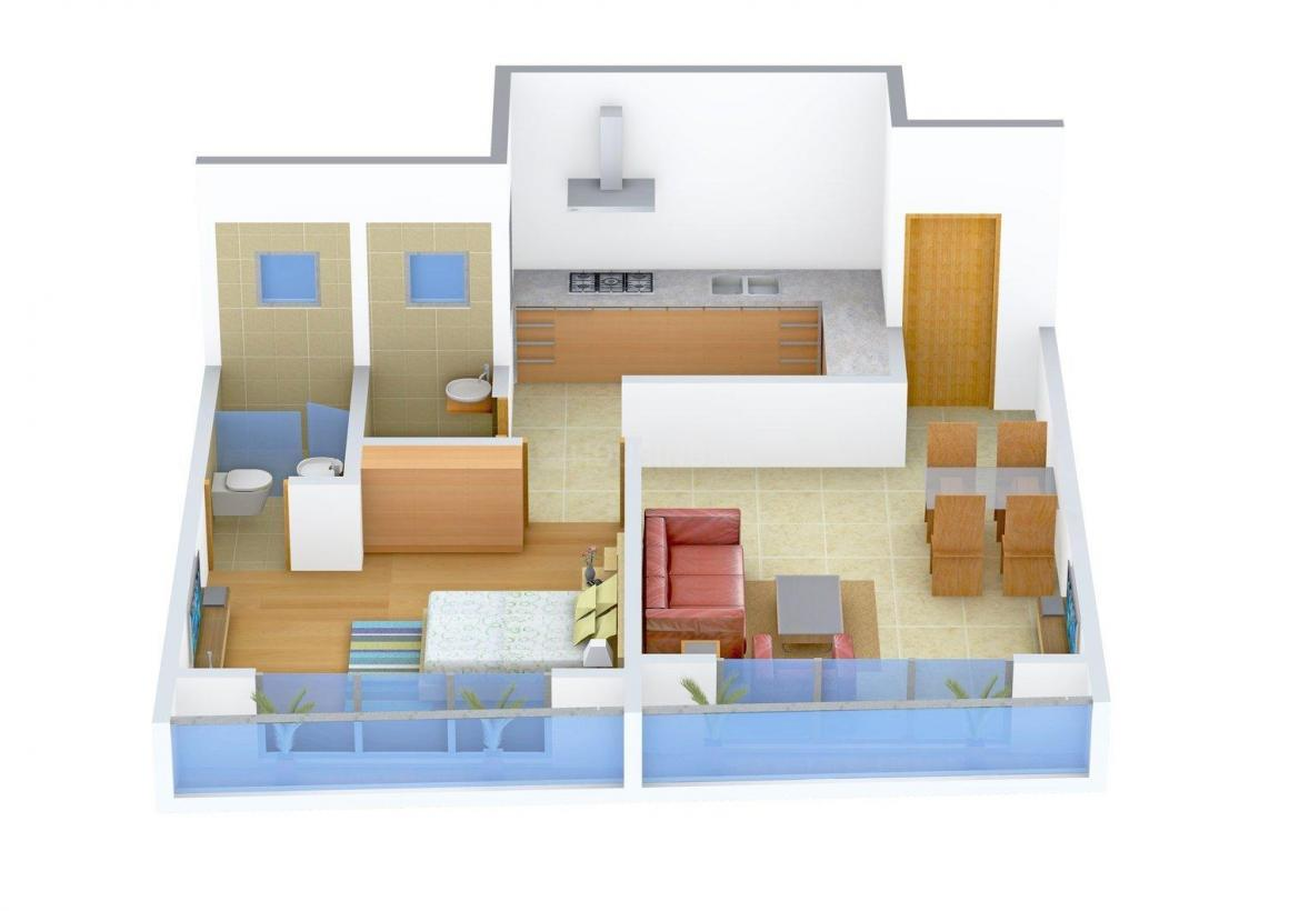 Floor Plan Image of 550.0 - 951.0 Sq.ft 1 BHK Apartment for buy in Neumec Sonnet