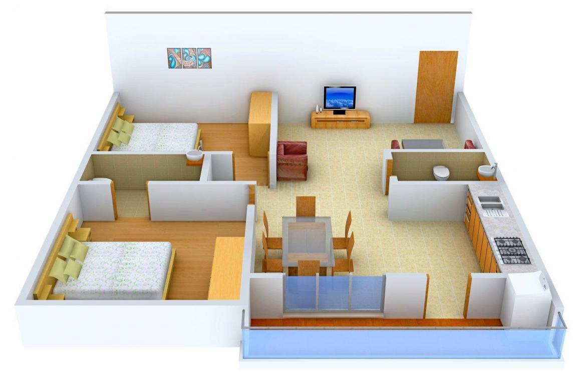 Floor Plan Image of 0 - 1135.0 Sq.ft 2 BHK Apartment for buy in Dwaraka Nilayam