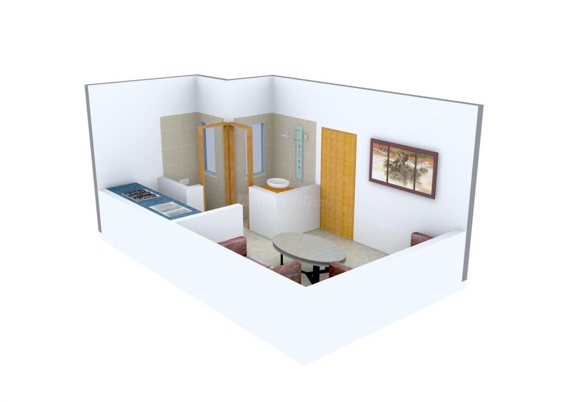 SN Rivera Apartment Floor Plan: 1 BHK Unit with Built up area of 305 sq.ft 1