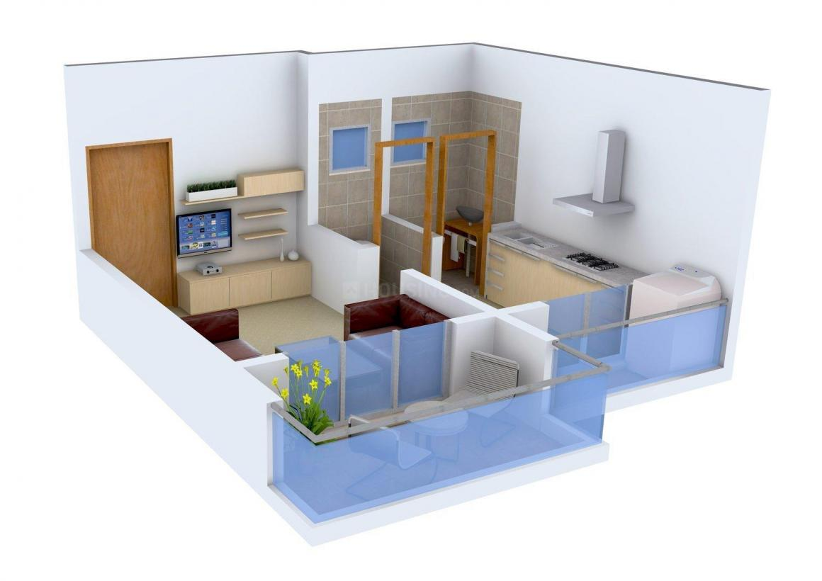 Floor Plan Image of 390 - 610 Sq.ft 1 RK Apartment for buy in Sai Residency
