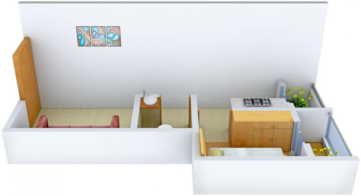 Floor Plan Image of 0 - 540.0 Sq.ft 1 BHK Apartment for buy in Shreeyog Plaza