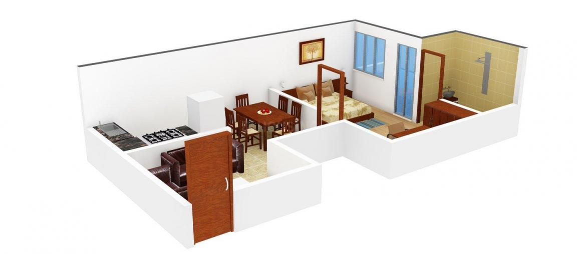 Floor Plan Image of 636 - 1001 Sq.ft 1 BHK Apartment for buy in SWRE Sharanya