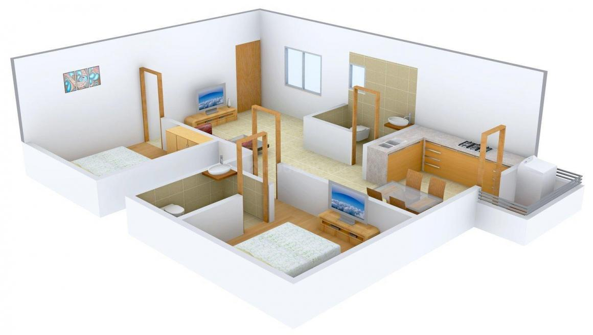Floor Plan Image of 1033 - 1486 Sq.ft 2 BHK Apartment for buy in Unique Eastern Breeze