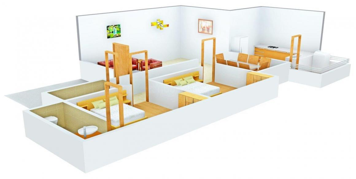 Floor Plan Image of 735.0 - 1085.0 Sq.ft 2 BHK Apartment for buy in Green City Aman's Residency