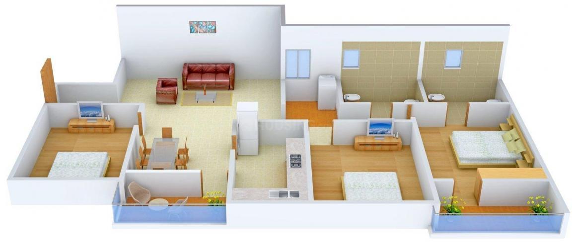 Floor Plan Image of 0 - 1539 Sq.ft 3 BHK Apartment for buy in Vijaya Coriander