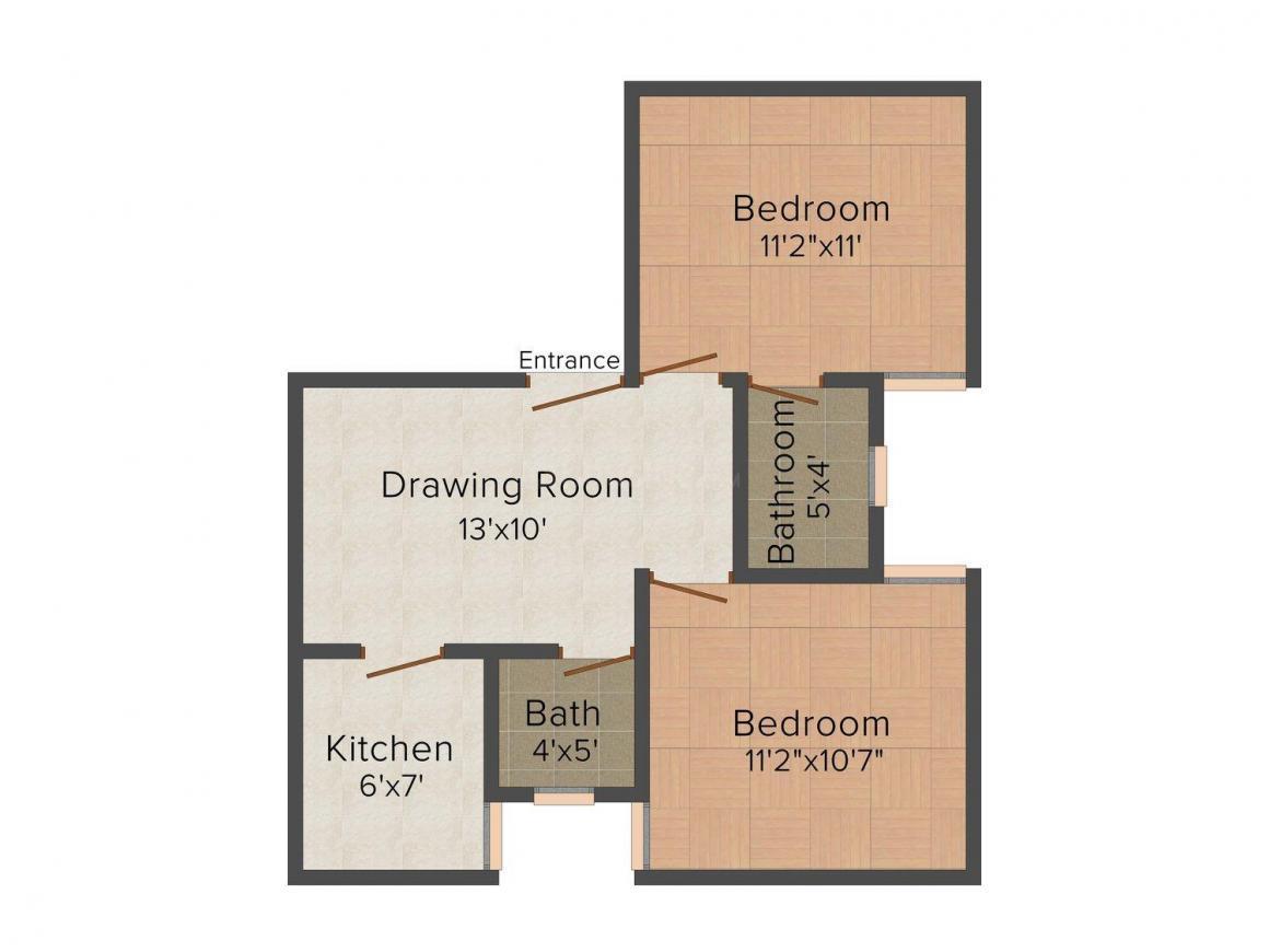 S & U Golden Nest Floor Plan: 2 BHK Unit with Built up area of 650 sq.ft 1