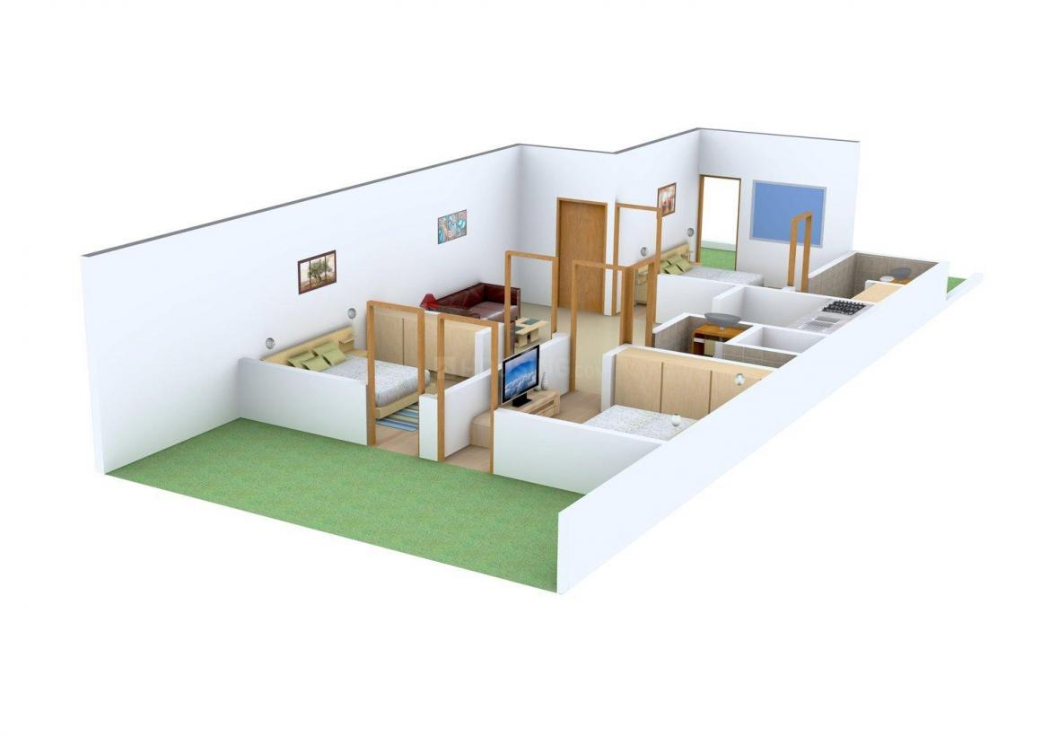 S.K. Builder Floors Floor Plan: 3 BHK Unit with Built up area of 1200 sq.ft 1