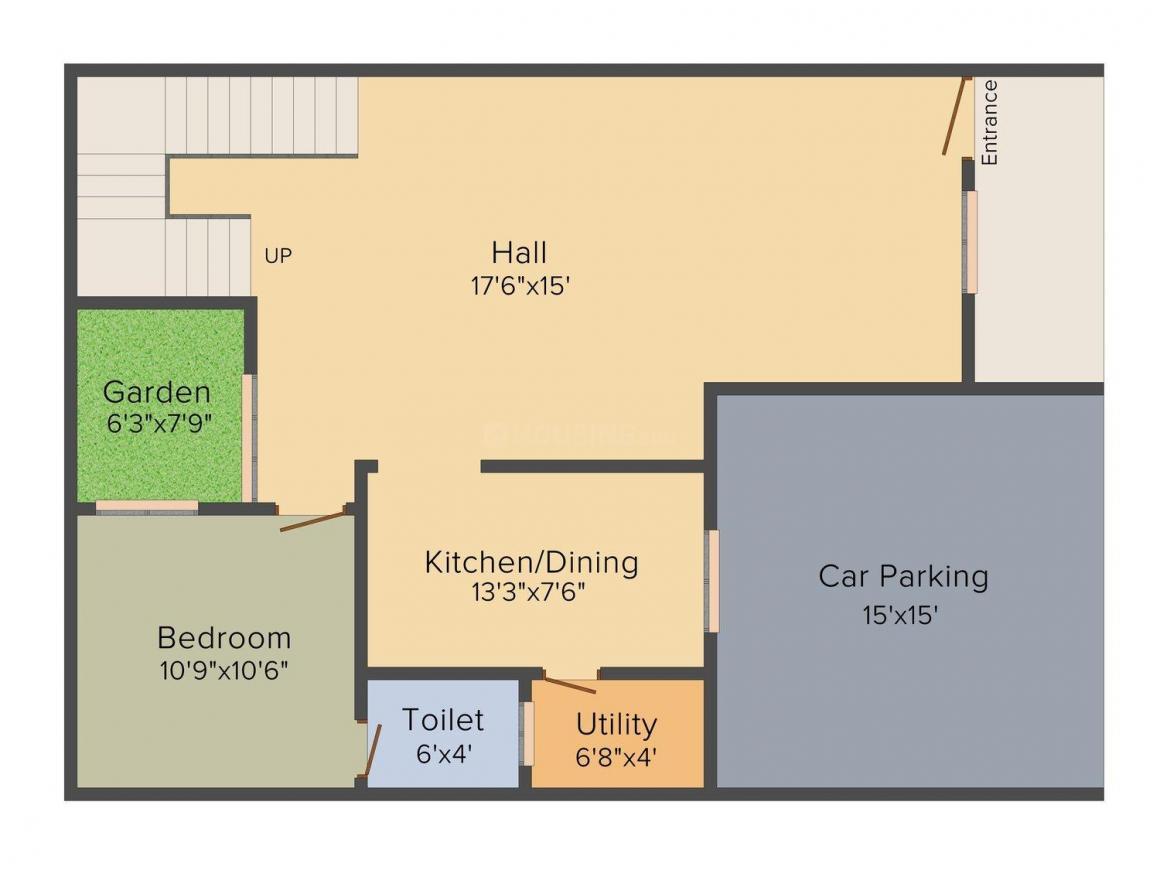 Floor Plan Image of 2493.0 - 2840.0 Sq.ft 3 BHK Villa for buy in Rand Pride Homes
