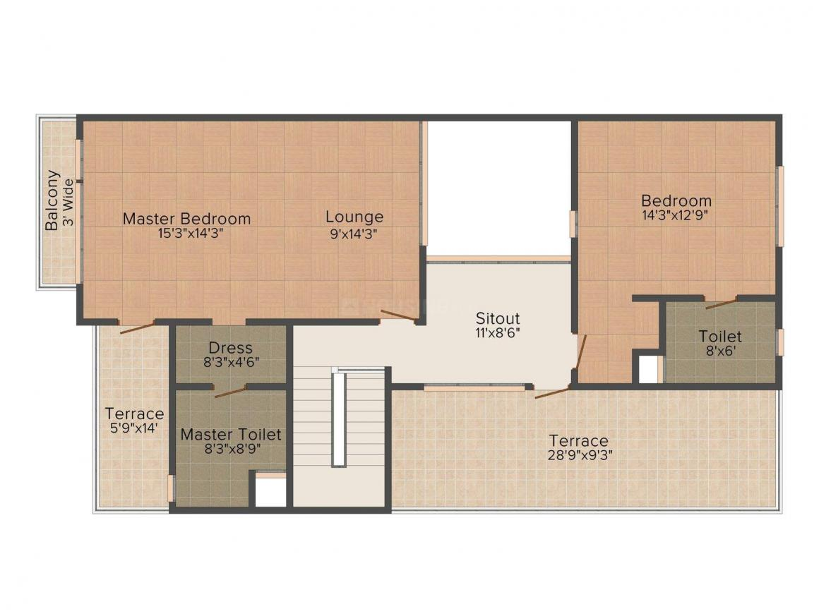 Floor Plan Image of 0 - 2250.0 Sq.ft 5 BHK Independent Floor for buy in Unique Floors 7