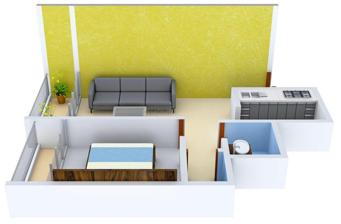 Floor Plan Image of 248.0 - 573.0 Sq.ft 1 BHK Apartment for buy in Goldee Riddhi Siddhi Apartment