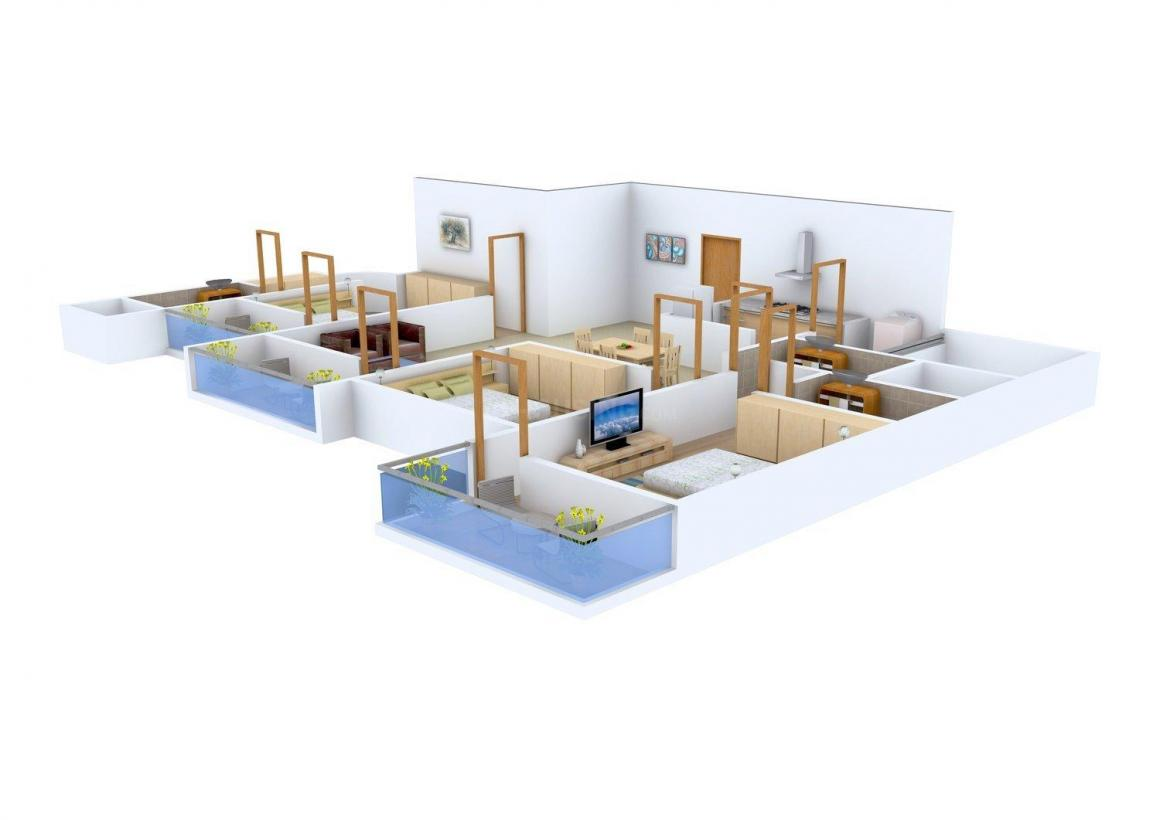 Floor Plan Image of 2057 - 2230 Sq.ft 3 BHK Apartment for buy in Lore Pride