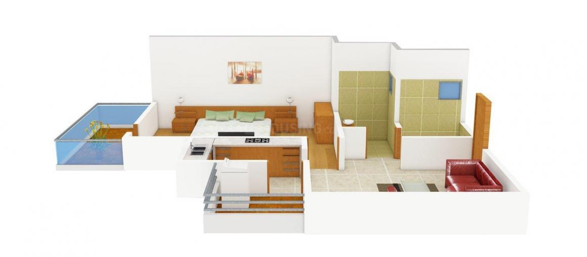 Floor Plan Image of 598.0 - 2185.0 Sq.ft 1 BHK Apartment for buy in Supertech Meerut Sports City