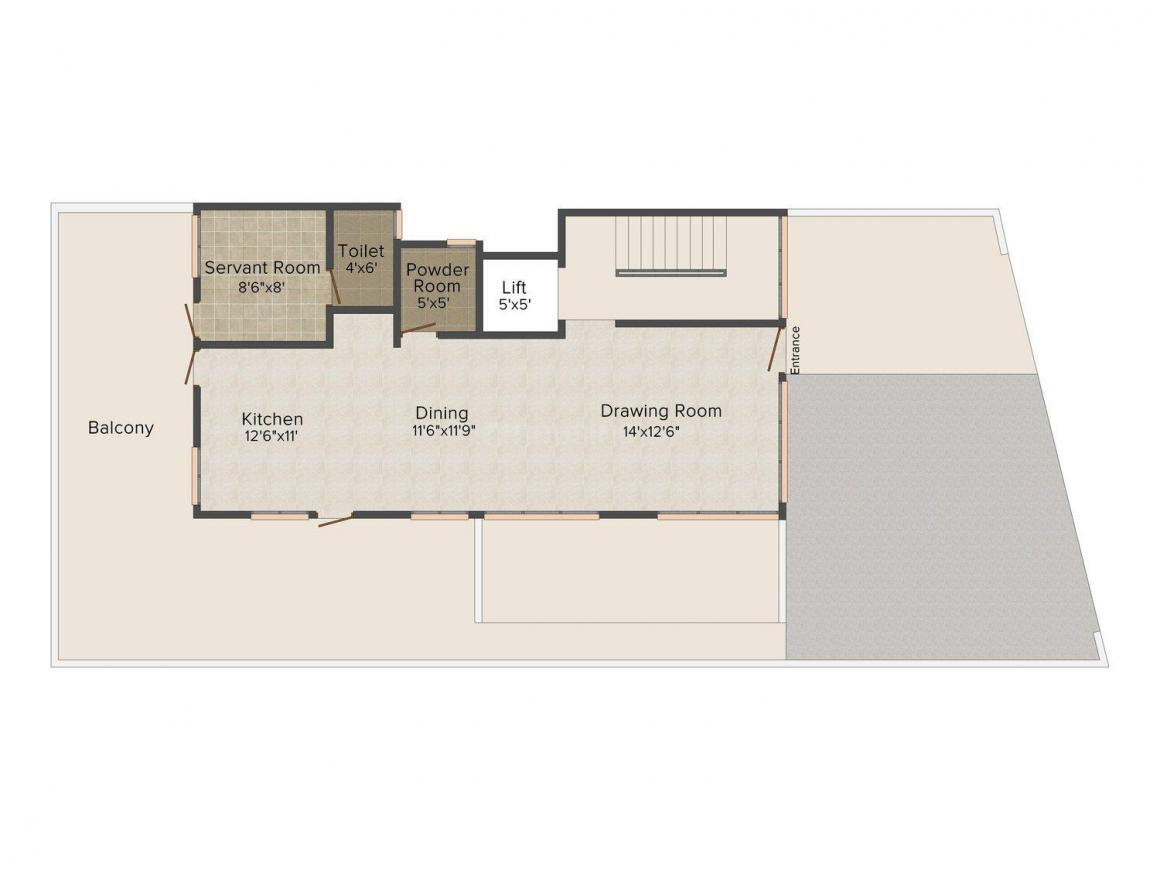Floor Plan Image of 0 - 3078 Sq.ft 4 BHK Villa for buy in Malhan Malaysian Twins