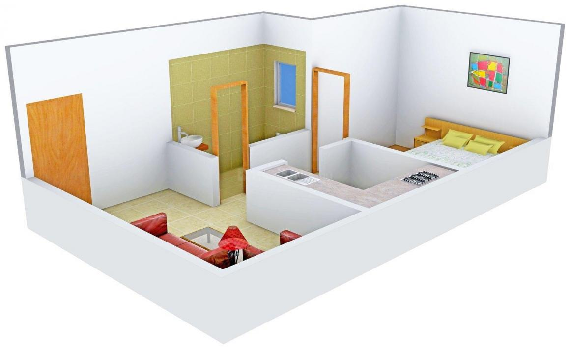 Floor Plan Image of 655 - 940 Sq.ft 1 BHK Apartment for buy in Radhey Heritage