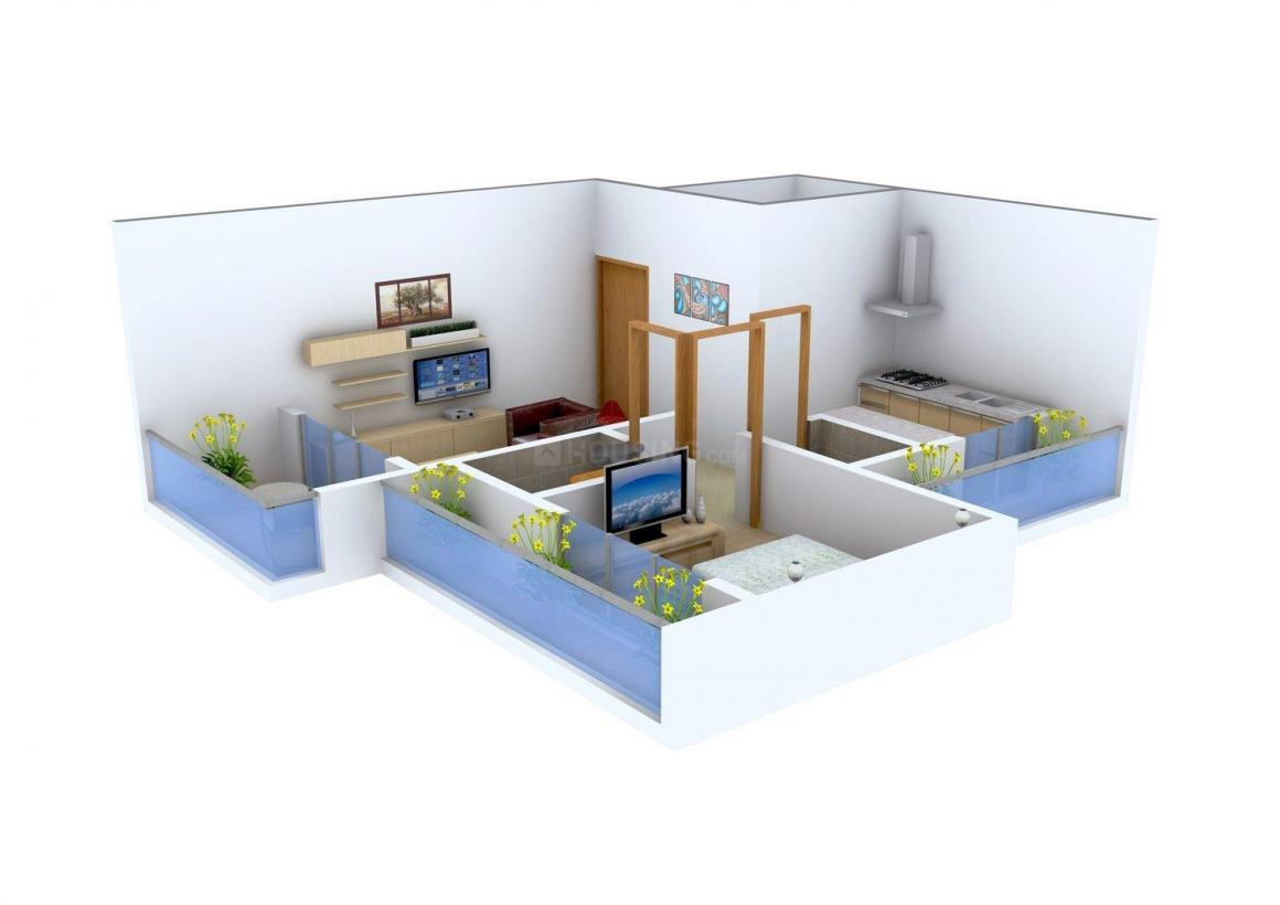 Floor Plan Image of 600.0 - 1000.0 Sq.ft 1 BHK Apartment for buy in Shyam Space Avenue