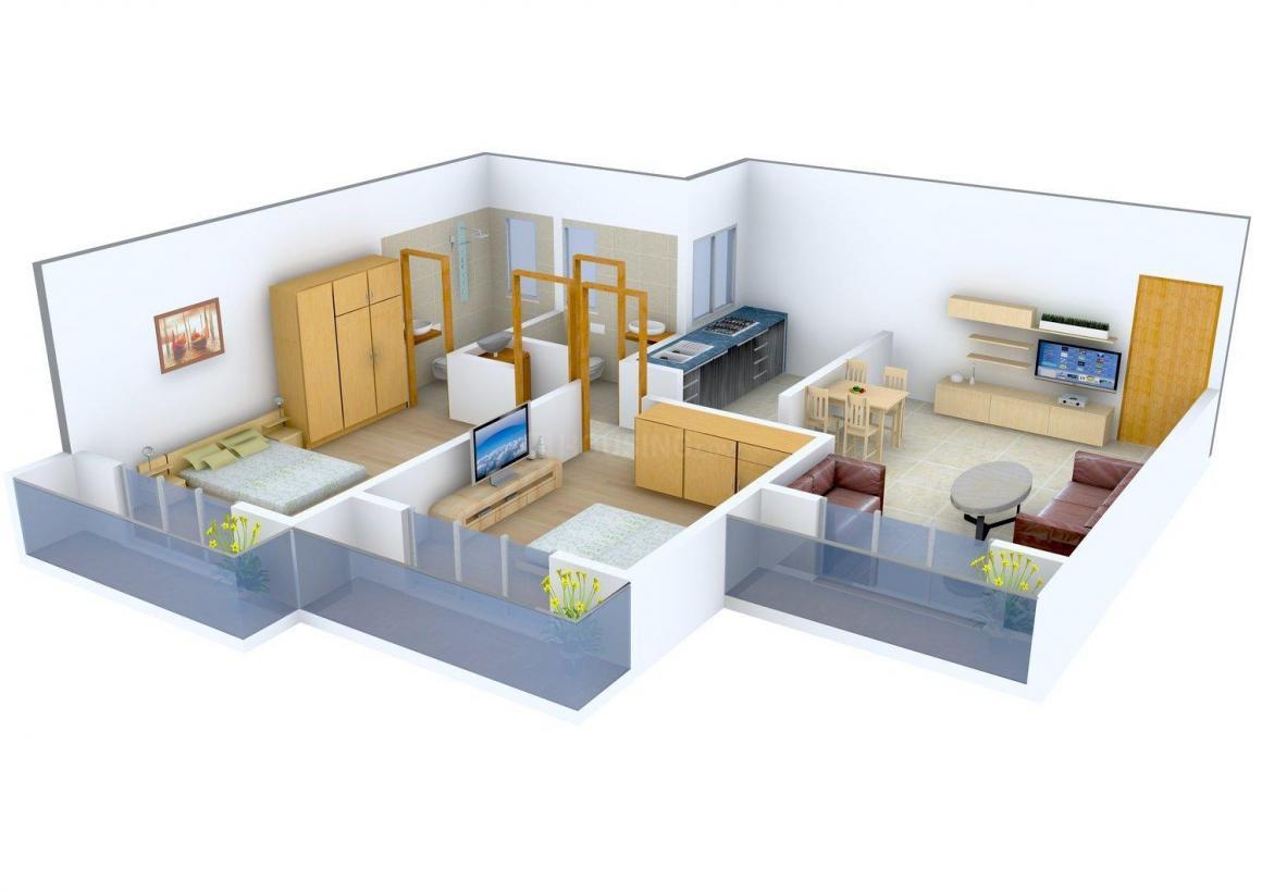 Floor Plan Image of 600.0 - 1324.0 Sq.ft 1 BHK Apartment for buy in Shikara Estates Phase 2