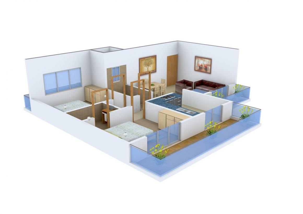 Floor Plan Image of 880 - 1755 Sq.ft 2 BHK Apartment for buy in Vishwa Hans