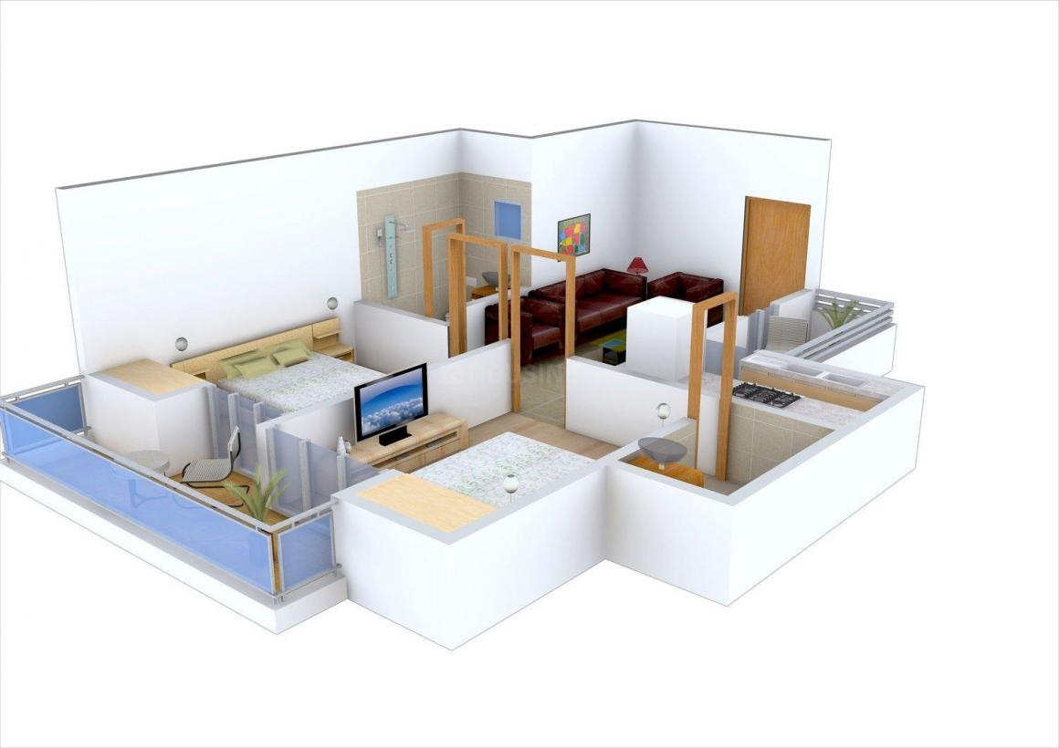 Floor Plan Image of 815.0 - 1775.0 Sq.ft 2 BHK Apartment for buy in Ajnara Integrity