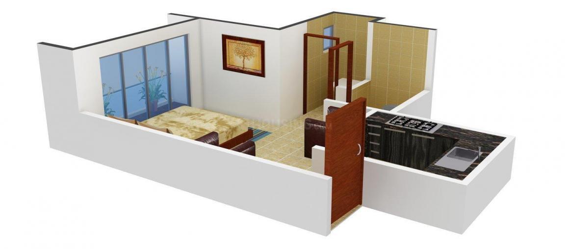 Floor Plan Image of 410.0 - 500.0 Sq.ft 1 RK Apartment for buy in Dreams Tulsi Villa