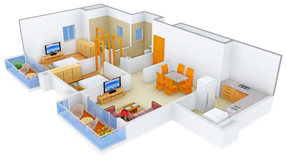 Floor Plan Image of 0 - 1000.0 Sq.ft 2 BHK Apartment for buy in Mutha Sai Icon