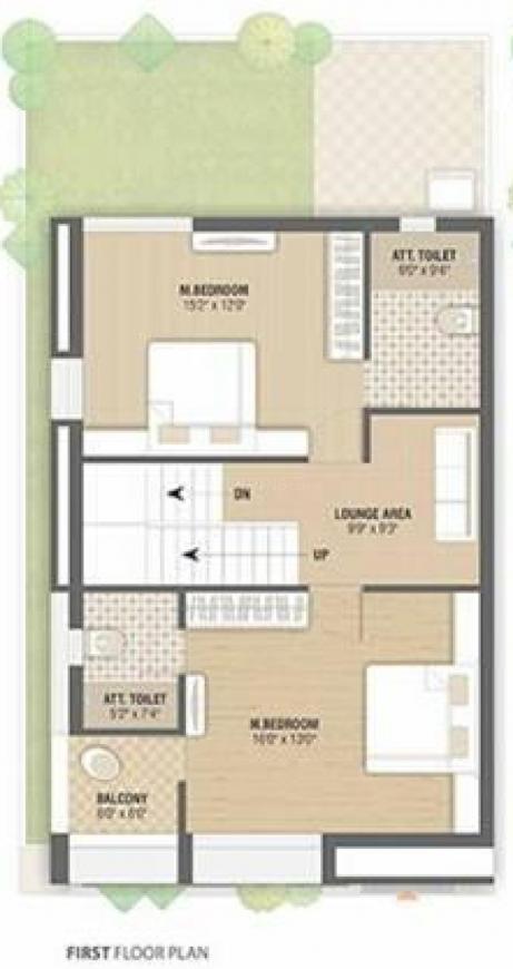 Shreeji Villa Floor Plan: 4 BHK Unit with Built up area of 3474 sq.ft 1