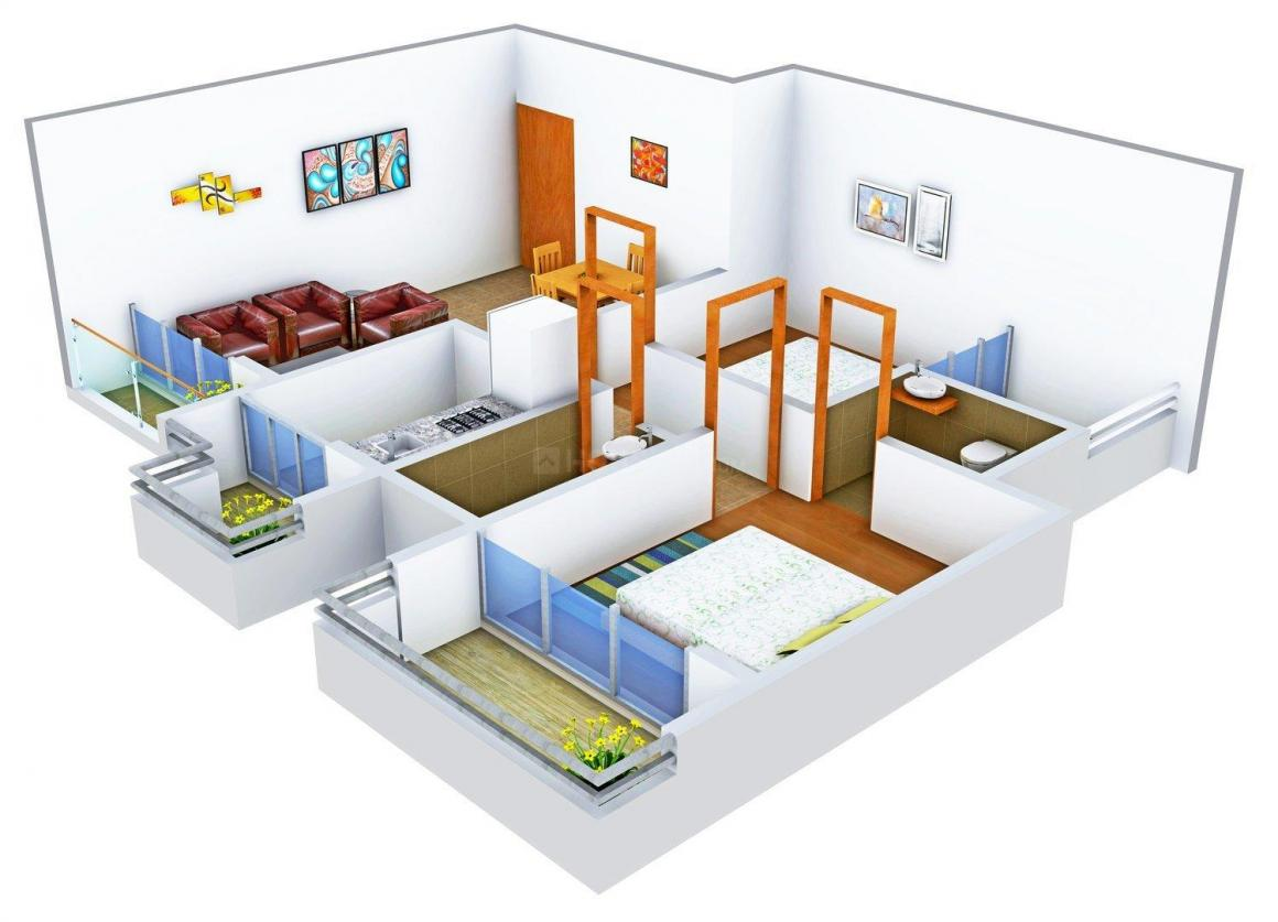 Floor Plan Image of 0 - 1105 Sq.ft 2 BHK Apartment for buy in Adinath Homes