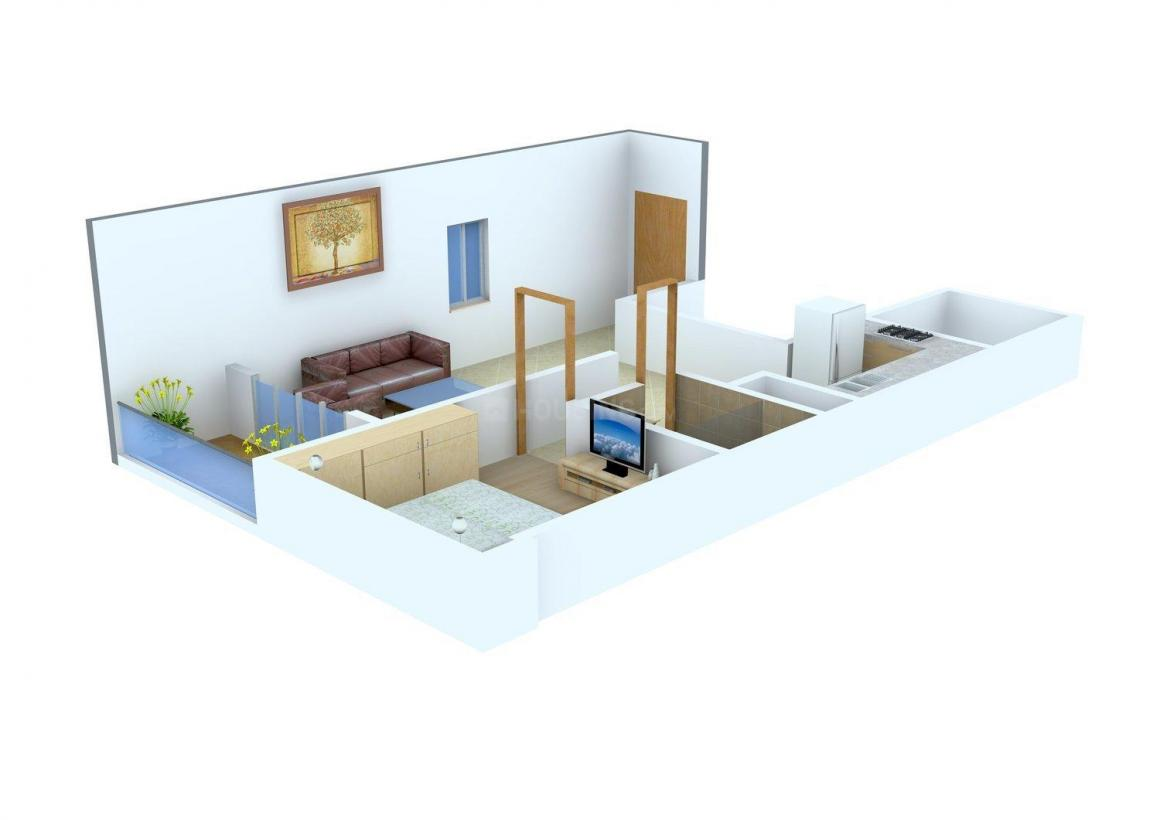 Floor Plan Image of 588 - 1188 Sq.ft 1 BHK Apartment for buy in Ambiance Ample