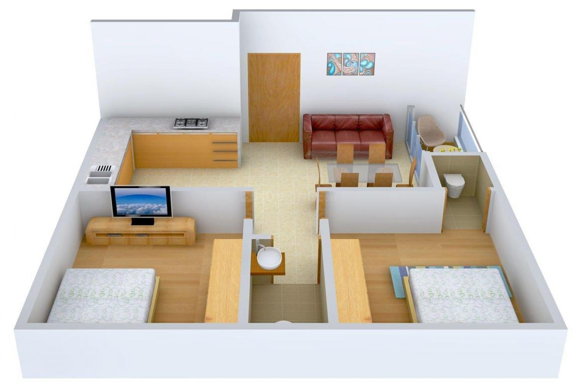 Floor Plan Image of 0 - 950.0 Sq.ft 2 BHK Apartment for buy in 200 Brahmapur