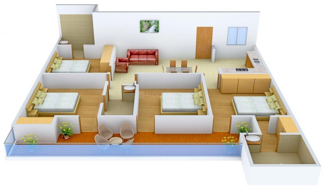 Floor Plan Image of 0 - 1500.0 Sq.ft 4 BHK Independent Floor for buy in C-3470