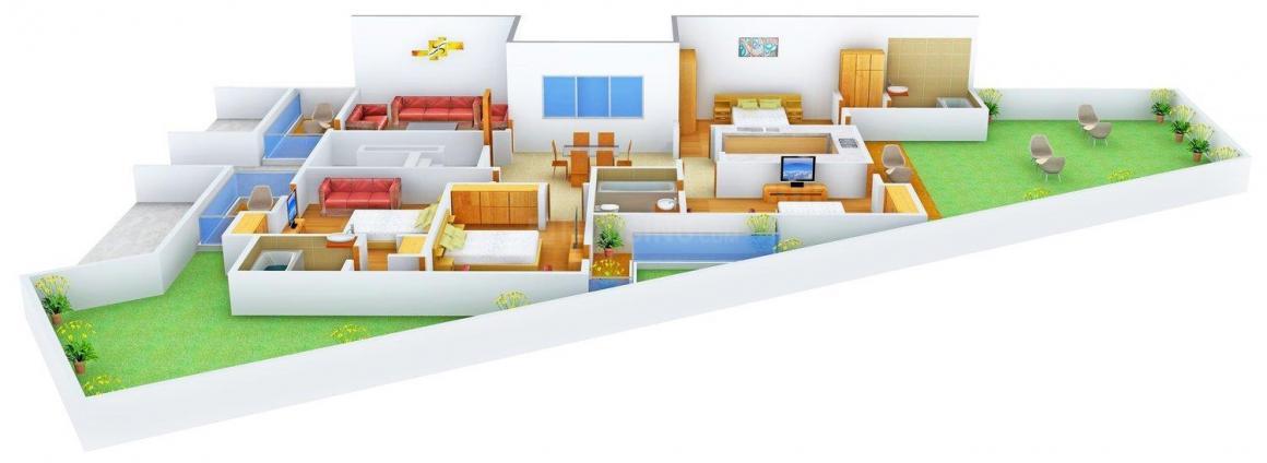 Floor Plan Image of 0 - 1870 Sq.ft 4 BHK Independent Floor for buy in Golden Floors - 7