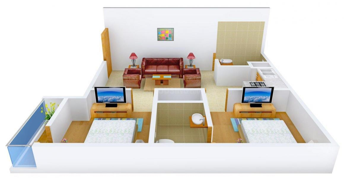 Arun House Floor Plan: 2 BHK Unit with Built up area of 675 sq.ft 1