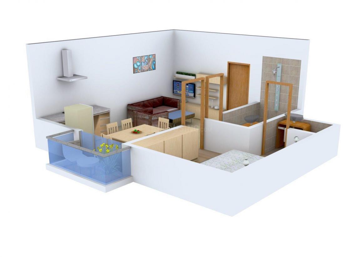 Floor Plan Image of 0 - 450 Sq.ft 1 BHK Independent Floor for buy in LBC Floors - 1