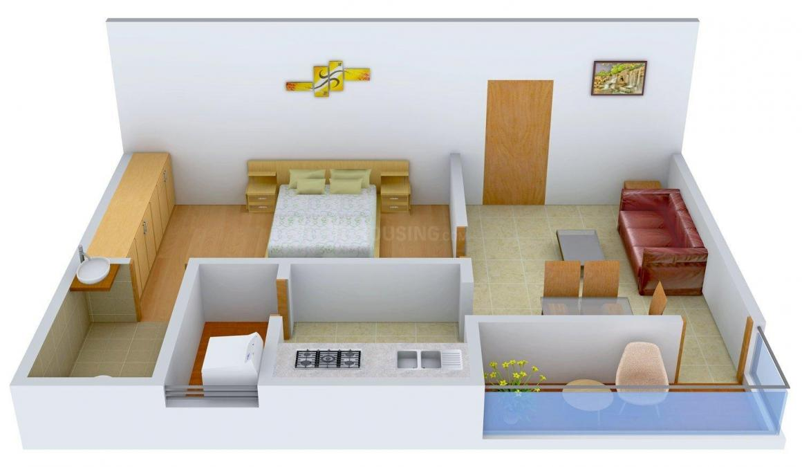 Floor Plan Image of 750.0 - 880.0 Sq.ft 1 BHK Apartment for buy in Siva Sai Paradise