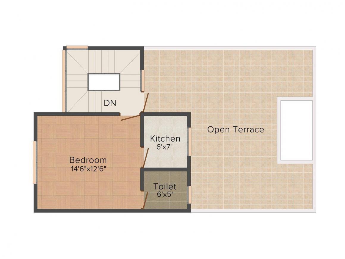 Floor Plan Image of 0 - 1300 Sq.ft 3 BHK Villa for buy in Shubhaarambh City