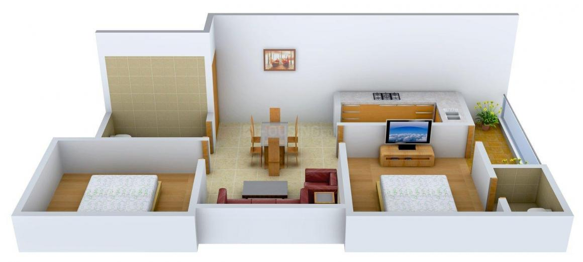 Floor Plan Image of 0 - 700.0 Sq.ft 2 BHK Independent Floor for buy in Om Sambhu Apartment
