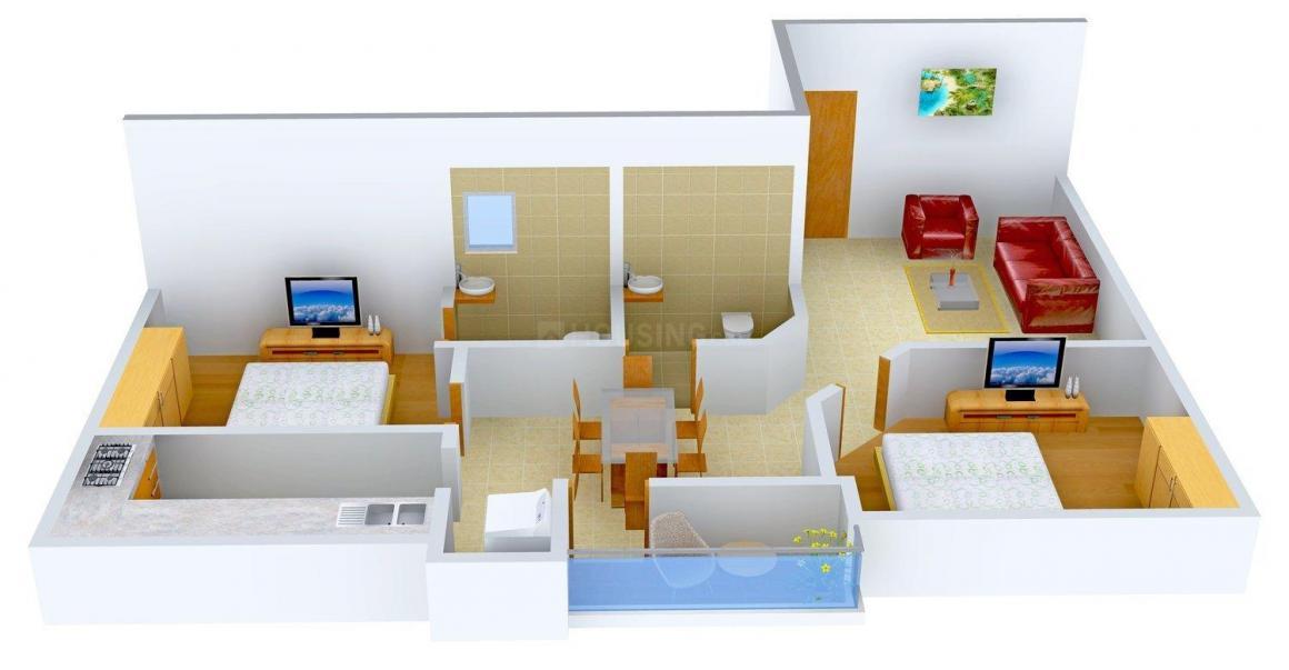 Floor Plan Image of 0 - 910 Sq.ft 2 BHK Apartment for buy in Aravind Villa